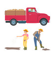 farming man and woman icons vector image