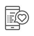 feedback and testimonials line icon vector image