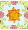 Floral nature pattern background with sun vector image vector image