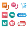 Free Shipping icons and buttons pack vector image vector image
