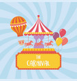 fun fair carnival carousel hot air balloon vector image vector image