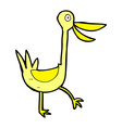 funny comic cartoon duck vector image