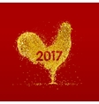 Golden rooster Chinese calendar vector image