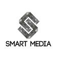 grey smart media logo vector image vector image