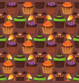 halloween cookie seamless pattern background food vector image vector image