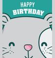 happy birthday to you cat cartoon vector image vector image