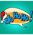 hohoho Santa Claus good laugh comic bubble text vector image vector image