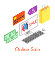 isometry online sale concept vector image vector image