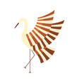 japanese crane symbol of good luck and longevity vector image vector image