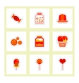 label icon on design sticker collection candy and vector image vector image