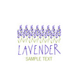 Lavender flower logo design text hand drawn