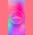 liquid color covers set fluid shapes composition vector image
