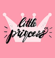 little princess card design vector image