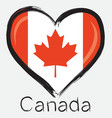 love Canada flag vector image vector image