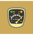 Miles speedometer y vector image vector image