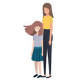 mother and daughter avatar character vector image vector image