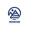 mountain logo template design concept graphic vec vector image vector image