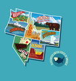 pictorial map of united states vector image vector image