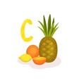 products with lots of vitamin c fresh pineapple vector image