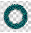 realistic christmas wreath of pine spruce branches vector image vector image
