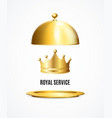 realistic detailed 3d golden crown and royal vector image