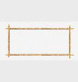 rectangle brown bamboo wooden border frame with vector image vector image