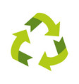 recyclable eco friendly icon image vector image vector image