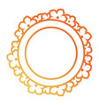 round frame with flowers des vector image