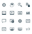 seo icons set collection of intellectual process vector image vector image