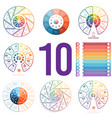 set 8 universal templates for infographics vector image vector image