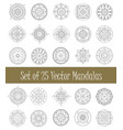 set of mandala ornament for graphic design and vector image vector image
