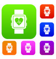 smartwatch set collection vector image vector image