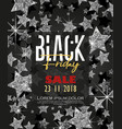 stars background black friday vector image