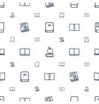 textbook icons pattern seamless white background vector image vector image