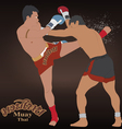 Thai boxing Muay Thai vector image vector image