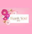 thank you gratitude card template with cute vector image