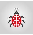 The ladybug icon Ladybird and bug beetle symbol vector image vector image