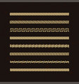 traditional simple meander golden border on d vector image vector image