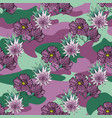tropic flowers on the camouflage background vector image vector image