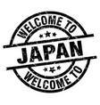 welcome to japan black stamp vector image vector image