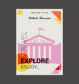 welcome to the british museum uk explore travel vector image vector image