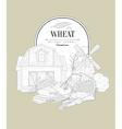 Wheat Vintage Sketch vector image