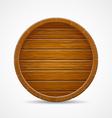 wooden barrel top end background vector image