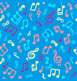 abstract music seamless pattern music notes vector image vector image