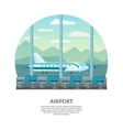 Airport Interior Orthogonal Design vector image vector image