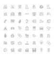 autumn season linear icons signs symbols vector image vector image