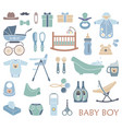 baby boy icons vector image vector image