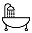 bath line icon shower vector image