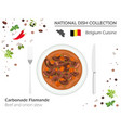 belgian cuisine european national dish collection vector image vector image