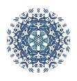 blue watercolor mandala Abstract vector image